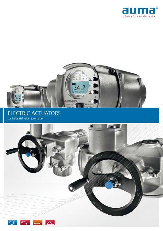 ELECTRIC ACTUATORS for industrial valve automation