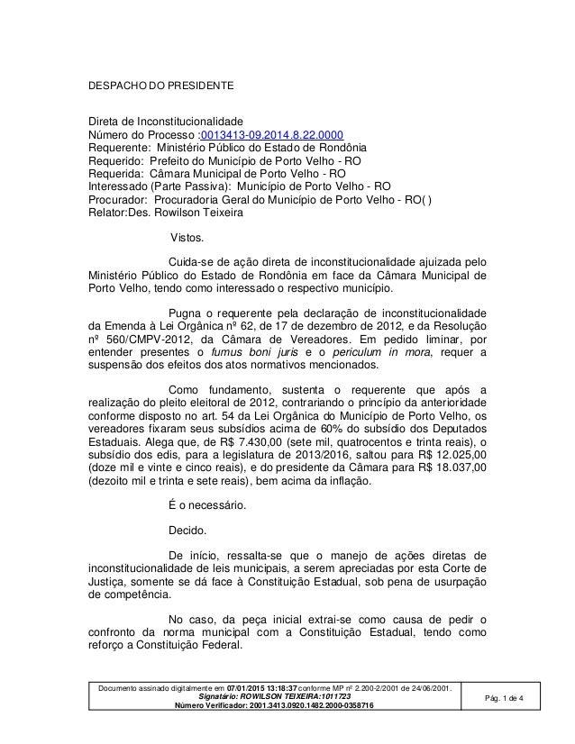 Documento assinado digitalmente em 07/01/2015 13:18:37 conforme MP nº 2.200-2/2001 de 24/06/2001. Signatário: ROWILSON TEI...