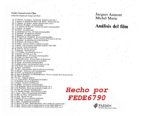 AUMONT ANALISIS DEL FILM PDF