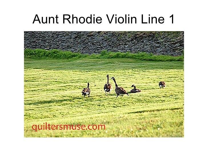 Aunt Rhodie Violin Line 1