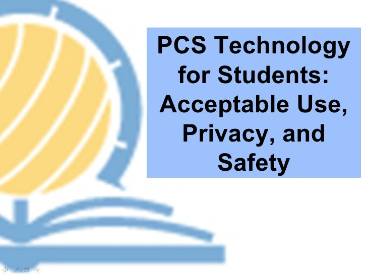 PCS Technology for Students: Acceptable Use, Privacy, and Safety