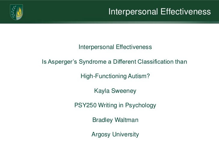interpersonal effectiveness portfolio The associate director, acquisition portfolio will collaborate with  highly  effective interpersonal skills and emotional intelligence that has.