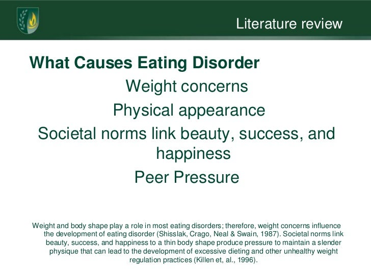 Literature review eating disorders