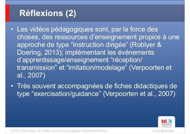 twitter: @bobreuterAUPTIC 2020 en ligne   13/11/2020   Louvain-la-Neuve, Belgique   Reuter, Reeff & Busana • Les vidéos pé...