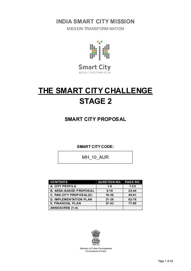 Aurangabad smart city proposal stage 2 india smart city mission page 1 of 92 india smart city mission mission transform nation malvernweather Gallery