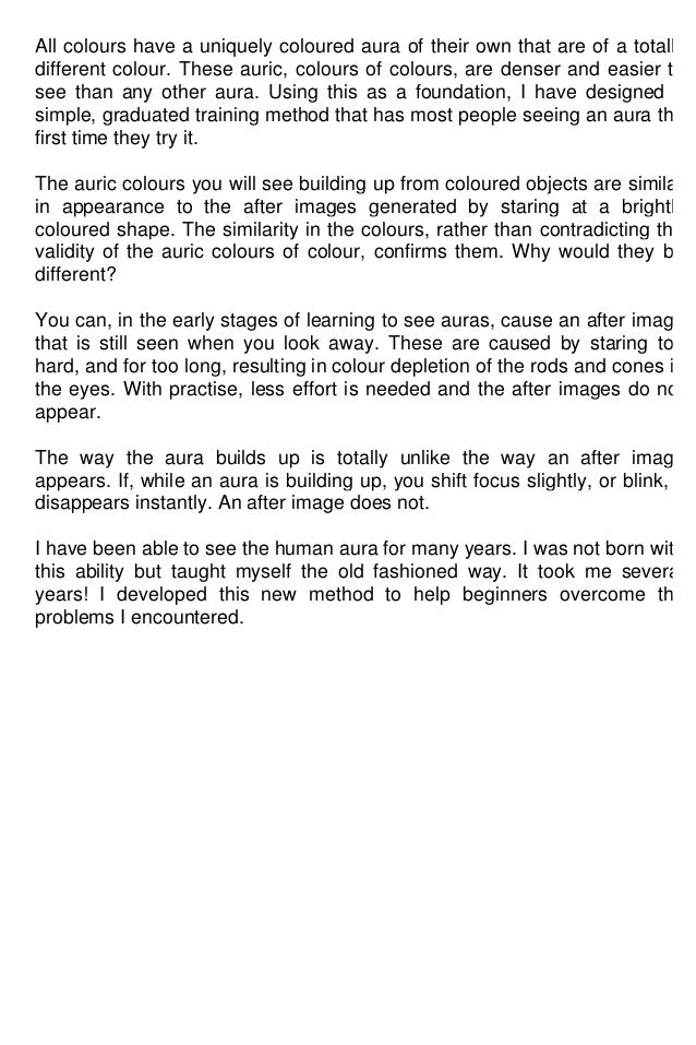 Auras the easy way to read auras