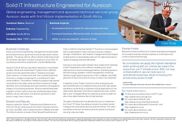 Solid IT Infrastructure Engineered for AureconGlobal engineering, management and specialist technical services group,Aurec...