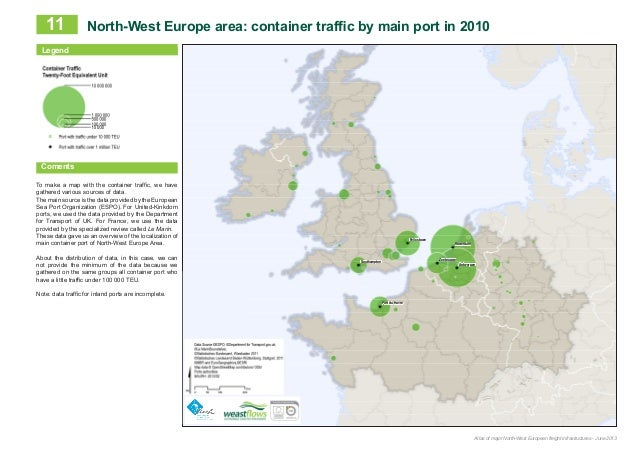 Northwest European Map.Aurh The Atlas Of Major North West European Freight Infrastructures