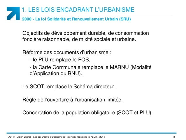 Les documents d 39 urbanisme et les incidences de la loi alur for Regle de l urbanisme