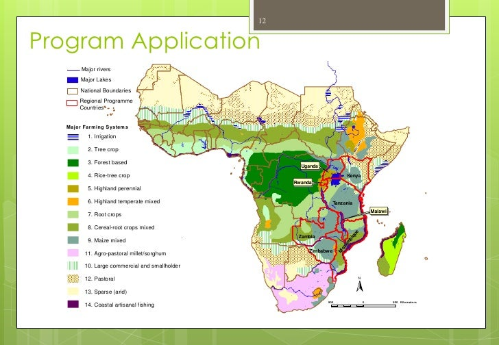 Mapping Farming Systems In Africa June - Main rivers in africa