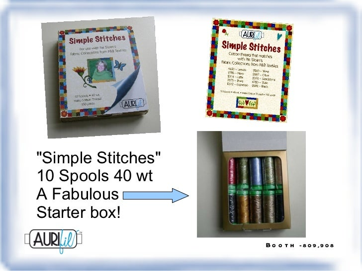 """""""Simple Stitches"""" 10 Spools 40 wt A Fabulous  Starter box!"""