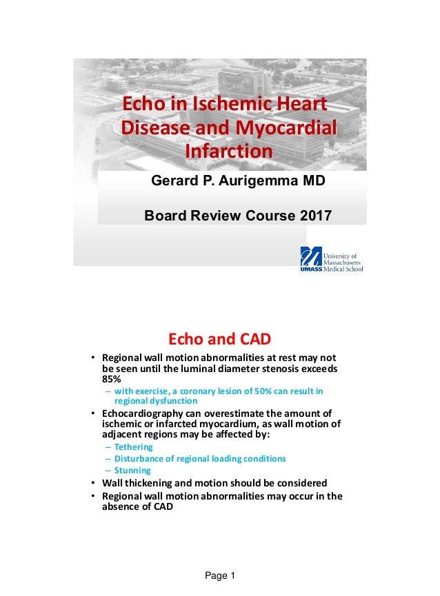 Echo In Ischaemic Heart Disease And Myocardial Infarction