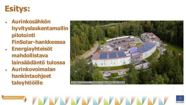 Aurinkoenergiayhteisöt taloyhtiössä Slide 2