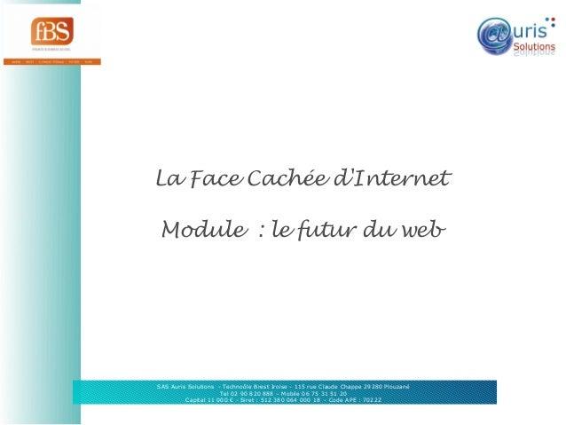 La Face Cachée d'Internet Module: le futur du web  SAS Auris Solutions - Technoôle Brest Iroise - 115 rue Claude Chappe 2...