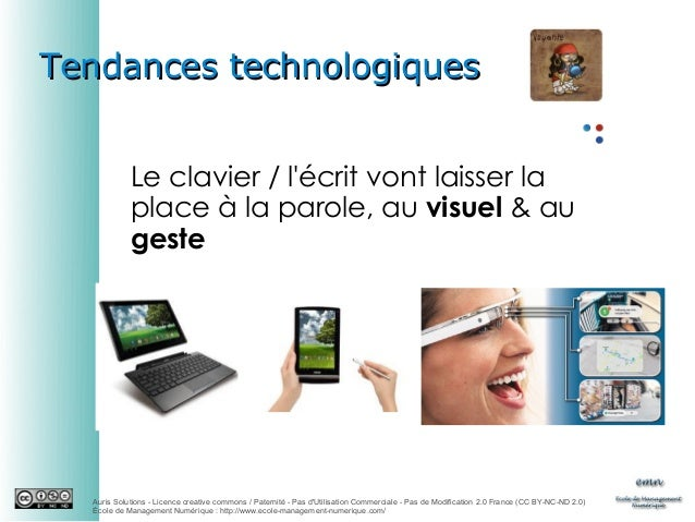 Tendances technologiques Le clavier / l'écrit vont laisser la place à la parole, au visuel & au geste  Auris Solutions - L...