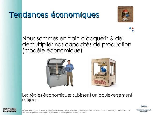 Tendances économiques Nous sommes en train d'acquérir & de démultiplier nos capacités de production (modèle économique)  L...