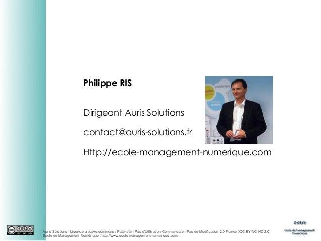 Philippe RIS Dirigeant Auris Solutions contact@auris-solutions.fr Http://ecole-management-numerique.com  Auris Solutions -...