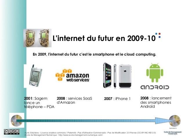L'internet du futur en 2009-10 En 2009, l'internet du futur c'est le smartphone et le cloud computing.  2008 : services Sa...