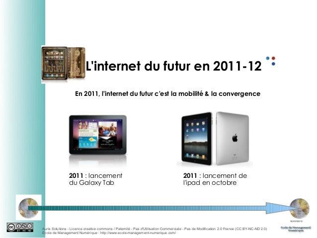 L'internet du futur en 2011-12 En 2011, l'internet du futur c'est la mobilité & la convergence  2011 : lancement du Galaxy...