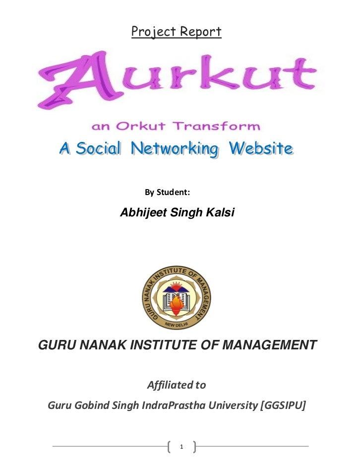 Project Report                   By Student:              Abhijeet Singh KalsiGURU NANAK INSTITUTE OF MANAGEMENT          ...