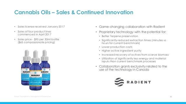 Aurora investor presentation - january 2018