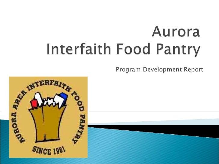 Program Development Report