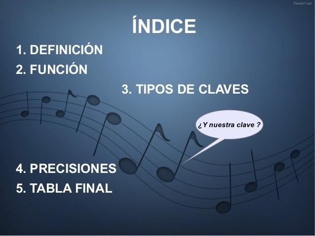 Las claves musicales Slide 2