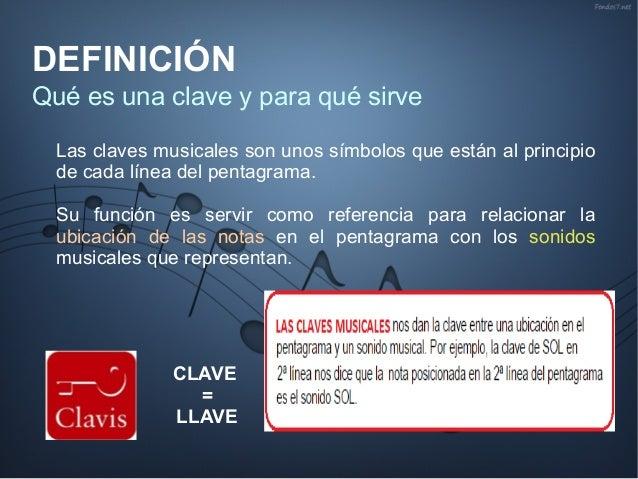 Las claves musicales Slide 3