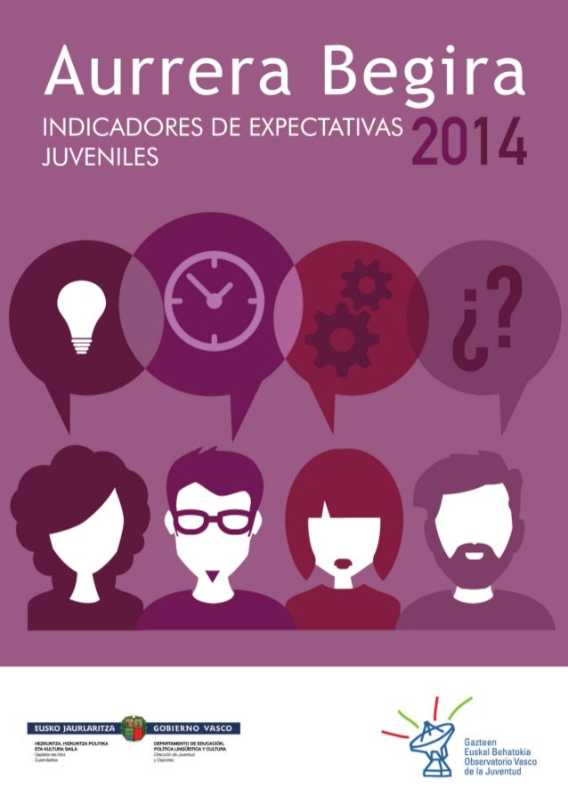 Título: Aurrera Begira 2014. Indicadores de expectativas juveniles Realizado por: Observatorio Vasco de la Juventud Equipo...