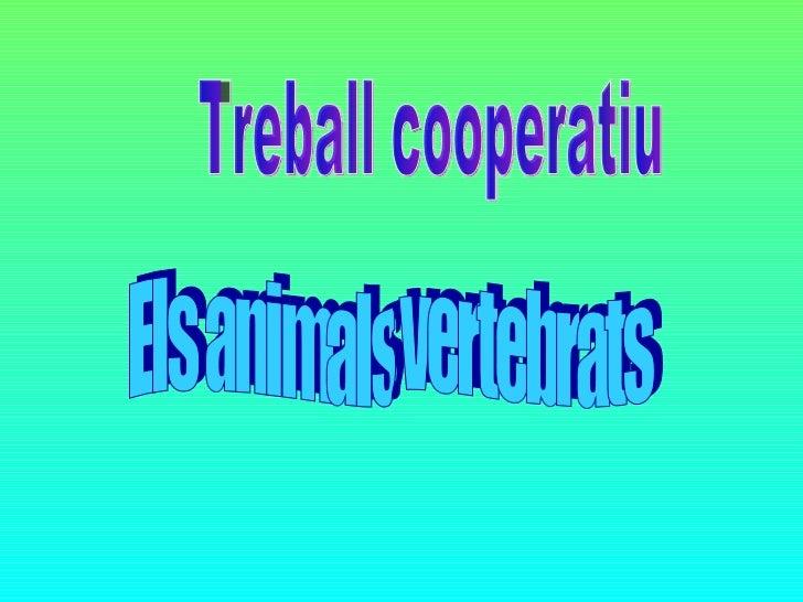 Treball cooperatiu Els animals vertebrats