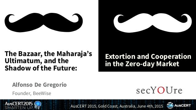 .... The Bazaar, the Maharaja's Ultimatum, and the Shadow of the Future: . Extortion and Cooperation in the Zero-day Marke...