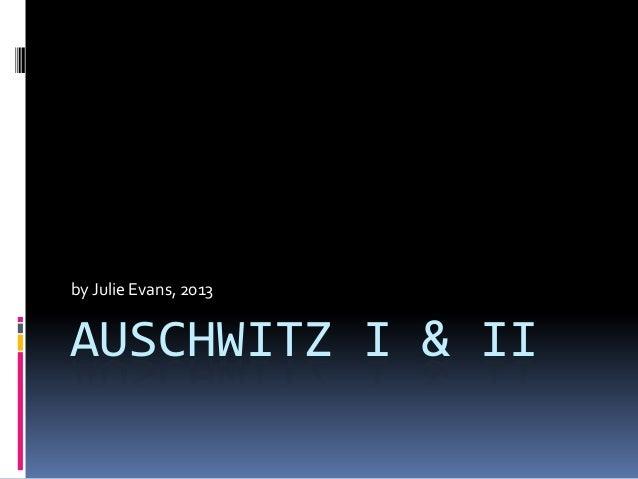 AUSCHWITZ I & II by Julie Evans, 2013