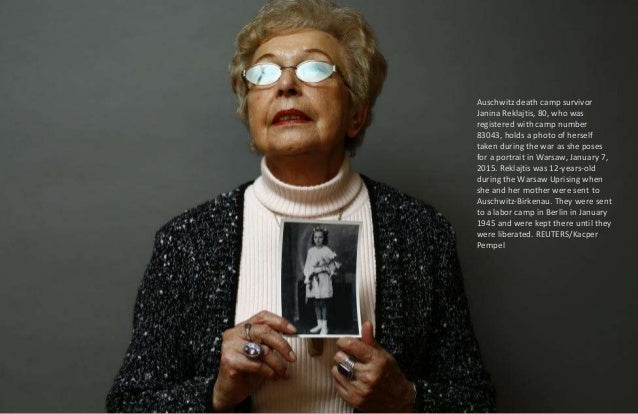Auschwitz death camp survivor Danuta Bogdaniuk-Bogucka (maiden name Kaminska), 80, poses for a portrait in Warsaw, January...