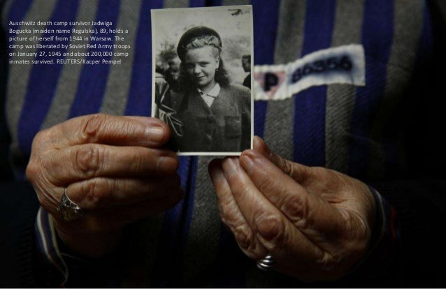 Auschwitz death camp survivor Marian Majerowicz, 88, who was registered with camp number 157715, poses for a portrait in W...