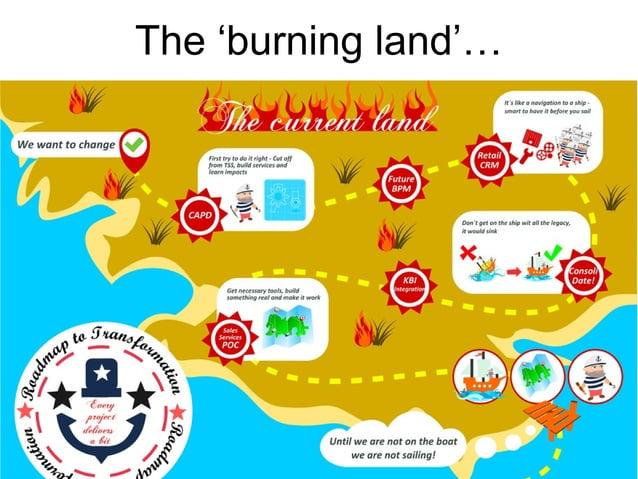The 'burning land'…