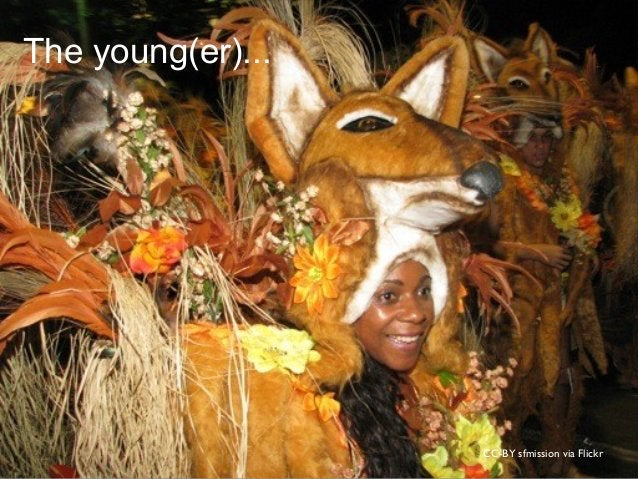 CC-BY sfmission via Flickr The young(er)...