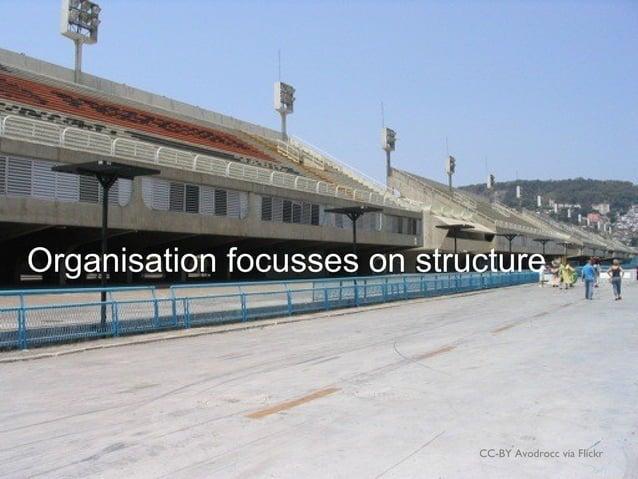 CC-BY Avodrocc via Flickr Organisation focusses on structure