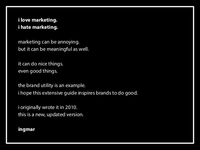 i love marketing.