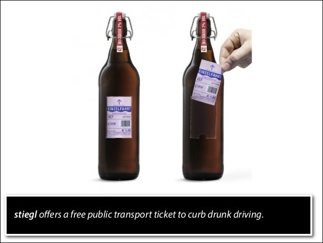 stiegl offers a free public transport ticket to curb drunk driving.
