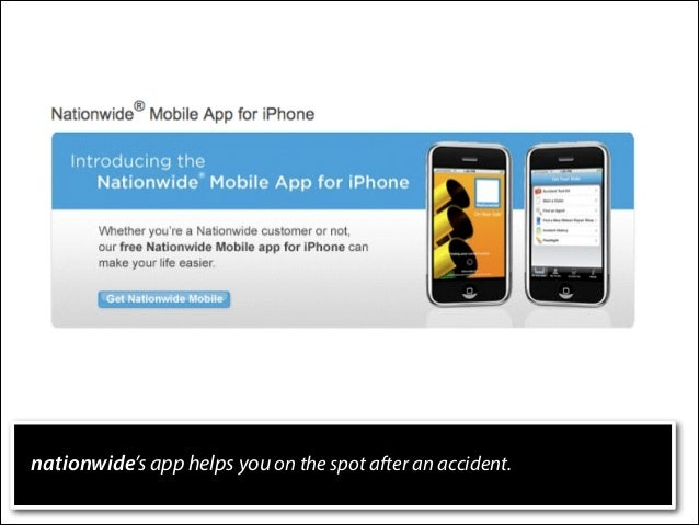 nationwide's app helps you on the spot after an accident.