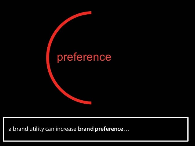 preference  a brand utility can increase brand preference…