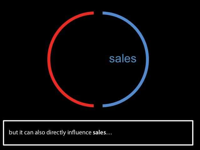sales  but it can also directly influence sales…