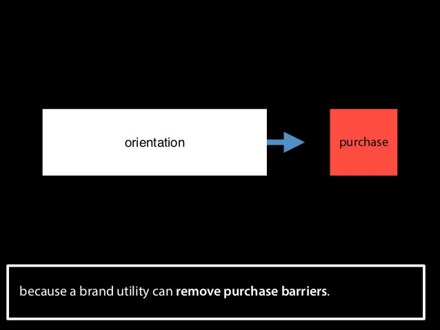 orientation  purchase  because a brand utility can remove purchase barriers. !34