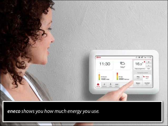 eneco shows you how much energy you use.