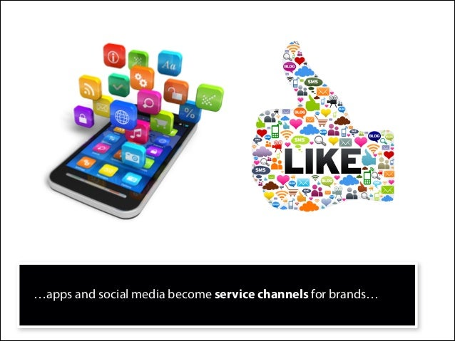 …apps and social media become service channels for brands…