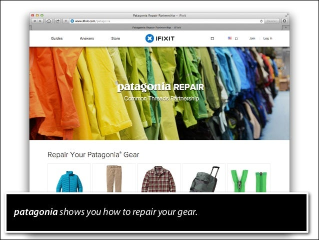 patagonia shows you how to repair your gear.