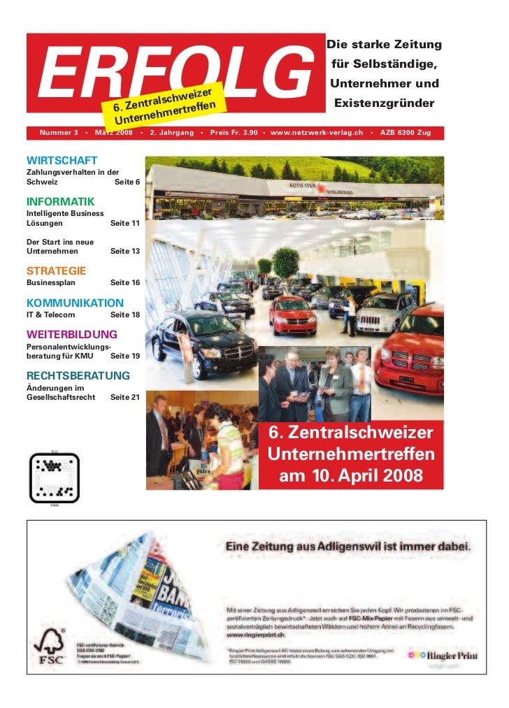 Die starke Zeitung ERFOLG                                eizer                                ralschw ffen                ...