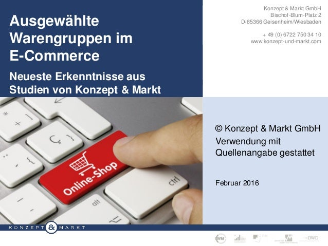 KONZEPT & MARKT GMBH, GEISENHEIM · SEITE 1 /W Individuelle Konzepte für Ihre Marktforschung Konzept & Markt GmbH Bischof-B...