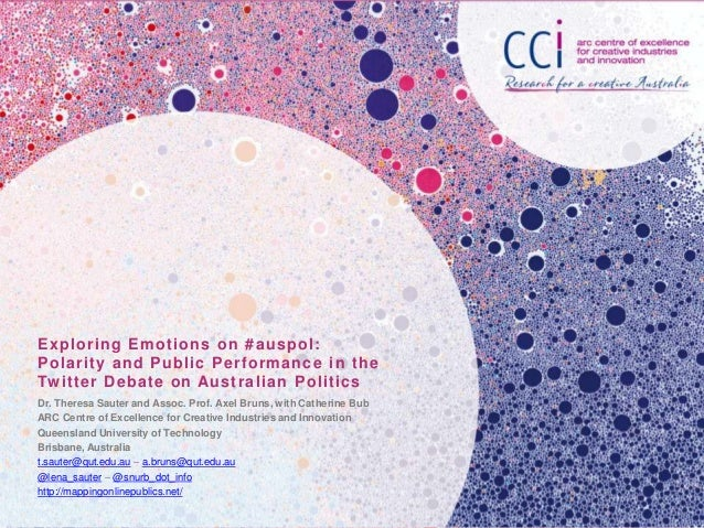 Exploring Emotions on # auspol : Polarity and Public Performance in the Tw itter Debate on Australian Politics Dr. Theresa...