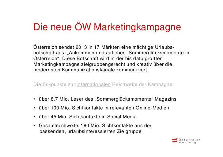 ÖW Marketingkampagne 2013 Deutschland Slide 2